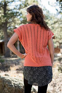 Sunshine Canyon Tee by Bristol Ivy, Interweave Knits Spring 2014, Green Mountain Spinnery Cotton Comfort