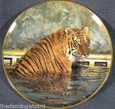 Majestic Tiger Collector Plate by Ron Kimball Franklin Mint Porcelain