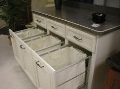 Built In Laundry Sorting In Under Cabinets, But, I Like The Idea Of This