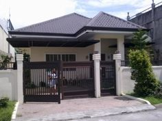 FYI: Bungalow House With Floor Plan Philippines Simple Bungalow House Designs, Bungalow Haus Design, Small Bungalow, Modern Bungalow House, Simple House Design, Modern Houses, Bungalow Floor Plans, Modern House Floor Plans, Home Design Floor Plans