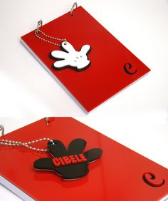 Bloco Personalizado Mickey Mouse. Ideal para presentear