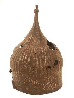 "Ahmad (Ahmet) Karahisari, 1500s (script only)  ""Turban"" helmet, probably 1400s  Ottoman Empire"