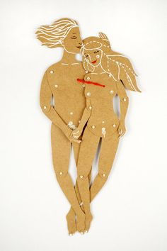 The Lovers - Articulated Paper Dolls by Dubrovskaya