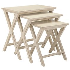"Maryann Stacking Tray Tables @Layla Grayce •16.5""W x 22.8""H"