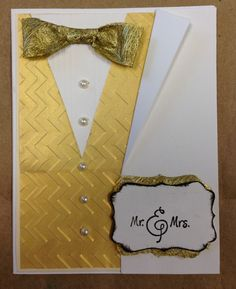 By Carol Cieslik. Variation on Suit and Vest Card.