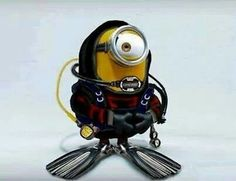 Scuba diving minion. That is the exact face I had during my first dive hahaha