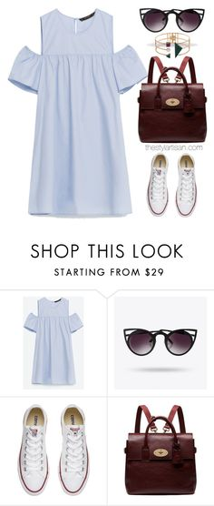 """""""Cutout dress"""" by thestyleartisan ❤ liked on Polyvore featuring Converse, Mulberry, Eshvi and PVStyleInsiderContest"""