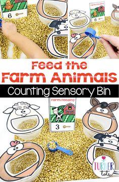 Farm Animals Preschool, Animal Activities For Kids, Farm Activities, Toddler Learning Activities, Preschool Themes, Sensory Activities For Preschoolers, Farm Animal Crafts, Farm Sensory Bin, Sensory Bins