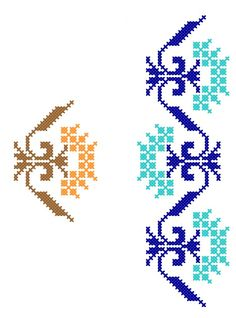 Cross Stitch Borders, Border Design, Design Elements, Embroidery Patterns, Projects To Try, Toyota, Floral, Handmade, Hand Towels