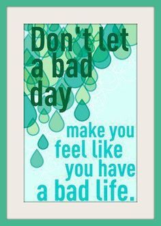 Greatest of Quotes. /FancyQuoteTees Mental Health. Bad Day. Life. Let Go.