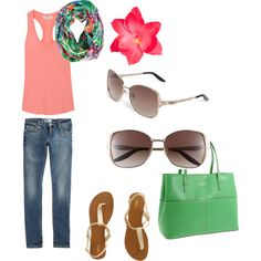 Summer, created by heather-jewell on Polyvore