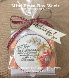 Stampin' Up! Mini Pizza Box Painted Autumn Suite - Be Creative Stamping Pizza Box Crafts, Fall Party Favors, Easy Paper Crafts, Paper Crafting, Mini Pizza, Pizza Boxes, Stamping Up, Rubber Stamping, Christmas Cards To Make