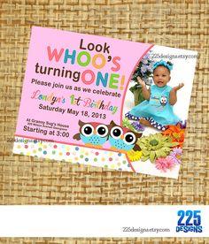 first birthday invitation   boy girl twins gender by 225designs, $15.00