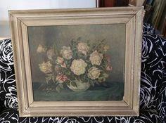 Cuadro antigüo, flores, original.  Av. Santa Rosa 2173, Castelar, Buenos Aires. Contacto: 2077-3494 WhatsApp: 1130715691