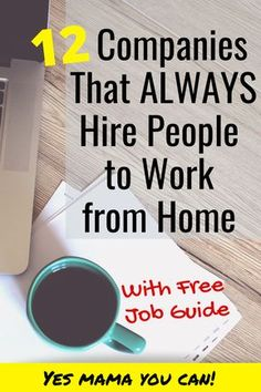 12 Work-at-Home Companies that are Hiring Now Check out this list of companies that are always hiring people to work from home. Apply for remote jobs here. Work From Home Companies, Online Jobs From Home, Work From Home Opportunities, Home Jobs, Online Work, Work From Home Careers, Jobs Uk, Ways To Earn Money, Earn Money From Home