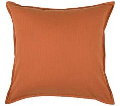 "Solid Pumpkin 20"" Square Pillow 