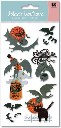 Jolee's Boutique Le Grande SLEEPY INN Dimensional Scrapbooking Stickers - 10 Piece Halloween Set