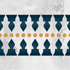 Inspired by the pointed architecture Arabic and Moroccan mosques, theMinaret Border Moroccan Stencil beautifully draws attention to wall borders and painted fu