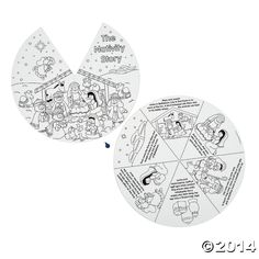 Religious: Paper Color Your Own Nativity Wheels 12 Pk Party Supplies Canada - Open A Party