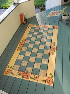 painted porch floor