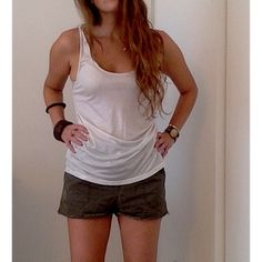 Free People Sparkly Racerback Tank Free People - Silky white/silver loose fitting racerback tank. Free People Tops Tank Tops