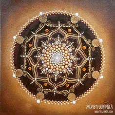 dot art money flow painting No.4 Tessa Smits-full