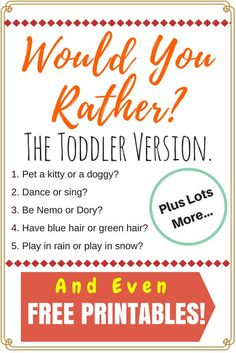 This game not only has funny questions for school aged kids but even a toddler version full of humor! It's so creative and fun. Not to mention a free printable! It couldn't be easier to enjoy a great would you rather game with your children. Would You Rather Game, Would You Rather Questions, Fun Learning, Learning Activities, Cooperative Learning, Kids And Parenting, Parenting Hacks, Parenting Humor, Funny Questions