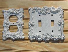 Vintage Cast Metal 1 Switch Plate Cover and 2 Outlet Covers Rose Floral Motif 1967 American Tack & Howe Co Contry Cottage, Shabby Chic Decor by VintageTrendyCharm on Etsy