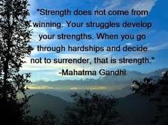 Strength does not come from winning life quotes quotes quote life inspirational quotes life lessons