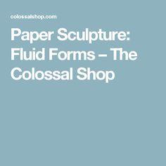 Paper Sculpture: Fluid Forms – The Colossal Shop