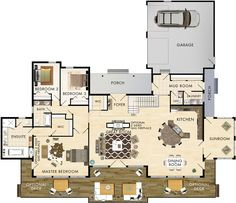 Soleil Floor Plan 2,820 sqft. Would need to shrink it down!