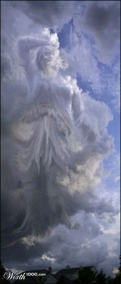 Angelic Image in the Clouds.