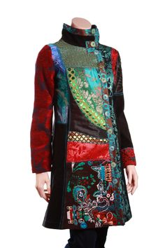 desigual clothing | womenswear desigual coats desigual abrig berta coat black £ 200 00 ...