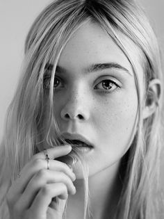 Elle Fanning. Photographed by Craig McDean for Interview magazine, May 2014.