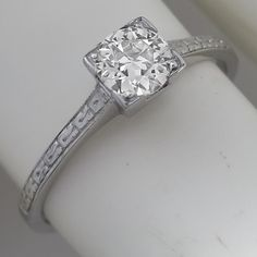 14k white gold diamond solitaire engagement ring  just so pretty