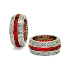 The Ruby Hollywood Fantasy Eternity Ring and other apparel, accessories and trends. Browse and shop 8 related looks. Ruby Jewelry, I Love Jewelry, Jewelry Rings, Jewelry Box, Jewelry Accessories, Fine Jewelry, Jewelry 2014, Rhinestone Jewelry, Cheap Jewelry