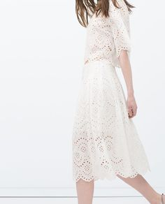 LONG LASER-CUT SKIRT-View all-Skirts-WOMAN-SALE   ZARA United States