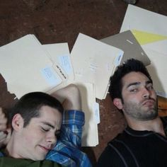 tyler hoechlin and dylan o'brien, sterek, teen wolf Teen Wolf Actors, Teen Wolf Boys, Teen Wolf Dylan, Teen Wolf Cast, Sterek, Stydia, Dylan O'brien, Mtv, Maze Runner 2014