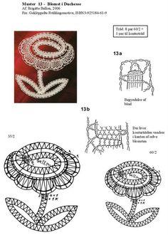 Album sous forme d'archive Scrap Quilt Patterns, Crochet Edging Patterns, Bobbin Lace Patterns, Flower Patterns, Lace Flowers, Crochet Flowers, Crochet Hat Tutorial, Bobbin Lacemaking, Lace Art