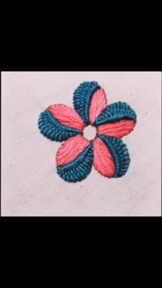 Hand Embroidery Patterns Flowers, Basic Embroidery Stitches, Hand Embroidery Videos, Embroidery Stitches Tutorial, Creative Embroidery, Simple Embroidery, Learn Embroidery, Hand Embroidery Designs, Crewel Embroidery