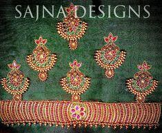 #kempembroidery #beadsembroidery #shortsleeveblouse #muhurthamblouse #greenandred #traditionalblouse #weddingblouse #sajnadesigns #sajnabridalweardesigner #goldembroidery #designerblouses #kooraiblouse Patch Work Blouse Designs, Kids Blouse Designs, Hand Work Blouse Design, Maggam Work Designs, Simple Blouse Designs, Bridal Blouse Designs, Embroidery Works, Hand Embroidery Designs, South Indian Blouse Designs
