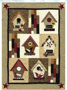 bird house quilt My Mom would love this! | huisjesquilt ... : birdhouse quilts - Adamdwight.com