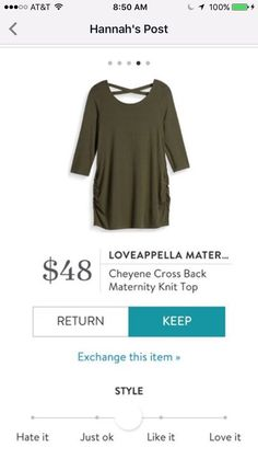 I like this top. It's cute. But I'd like it in a brighter color. Or in black.