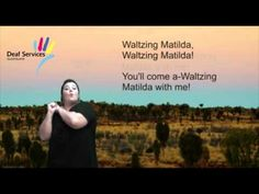 Waltzing Matilda in Auslan (Australian Sign Language) Australian Sign Language, British Sign Language, We Are One Song, Learn Another Language, Visual Learning, Deaf Culture, Kids Songs, Music Publishing, Matilda