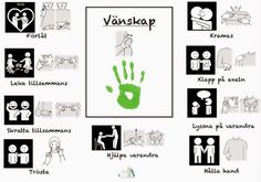 vänskap-arkiv - Tecken som stöd - Toppbloggare på Womsa Sign Language Phrases, Baby Sign Language, Preschool Library, Kids Barn, Learn Swedish, Swedish Language, School Labels, Adhd And Autism, Educational Activities For Kids