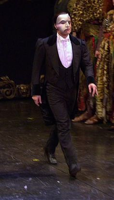 The Phantom | The Phantom of the Opera | Curtain Call |  ALW's Stage Production | 25th Anniversary | Ramin Karimloo | Don't let that smirky stride fool you, he is so humble :)