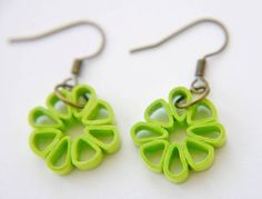 Free shipping Lime Green Square Flower Paper by FiligreeDelights, $10.00