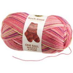 #5: Lion Brand Yarn 240-205L Sock-Ease Yarn, Cotton Candy.