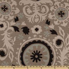 Premier Prints Suzani Black Stone/denton