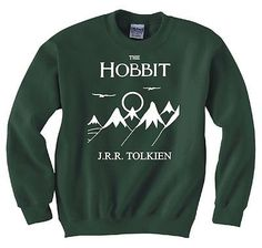 HOBBIT, LORD OF THE RINGS, FRODO, BOOK COVER SWEATSHIRT In small